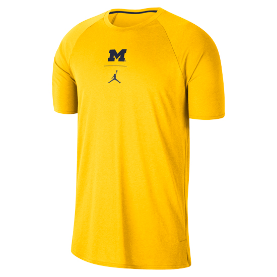 Jordan University of Michigan Football Maize J23 Alpha Dry Tee