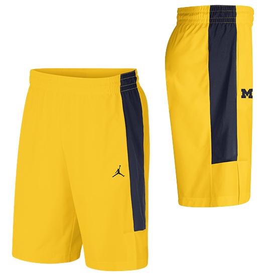 Jordan University of Michigan Football Maize J23 Alpha Dri-FIT Shorts
