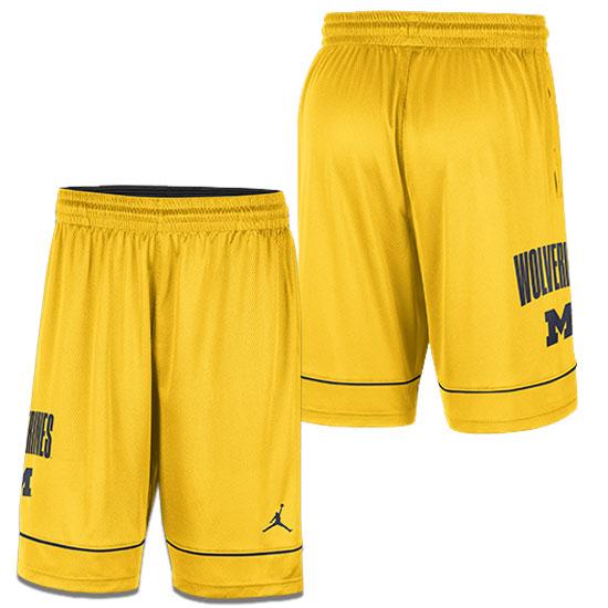 Jordan University of Michigan Basketball Maize Fast Break Shorts
