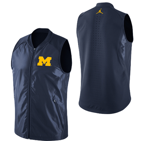 Jordan University of Michigan Basketball Navy HyperElite Game Vest