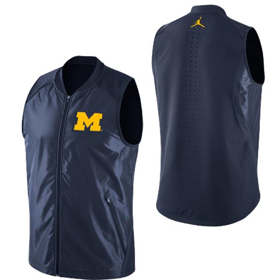 Jordan University of Michigan Basketball Navy HyperElite Game Vest