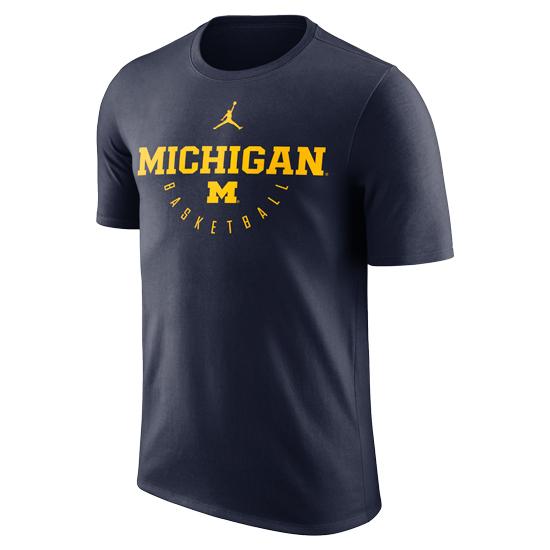 Jordan University of Michigan Basketball Navy ''Key'' Dri-FIT Legend Tee