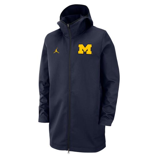 Jordan University of Michigan Basketball Navy Protect Softshell Jacket