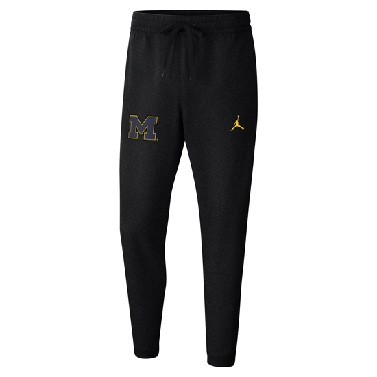 Jordan University of Michigan Basketball Black Heat Showtime Performance Pant