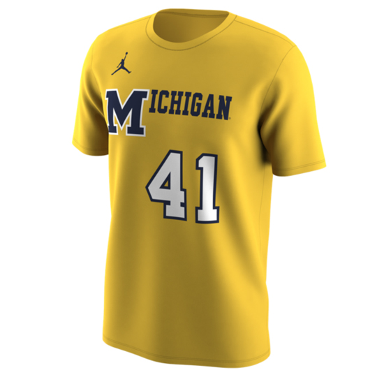 Jordan University of Michigan Basketball Maize 1989 Throwback Jersey Tee