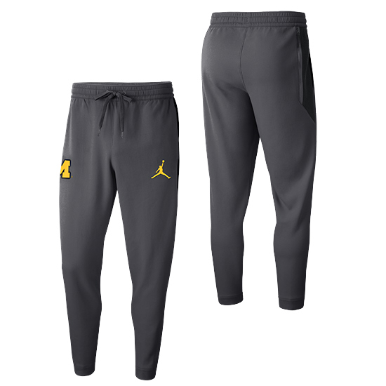 Jordan University of Michigan Basketball Anthracite Showtime Warm-Up Pant