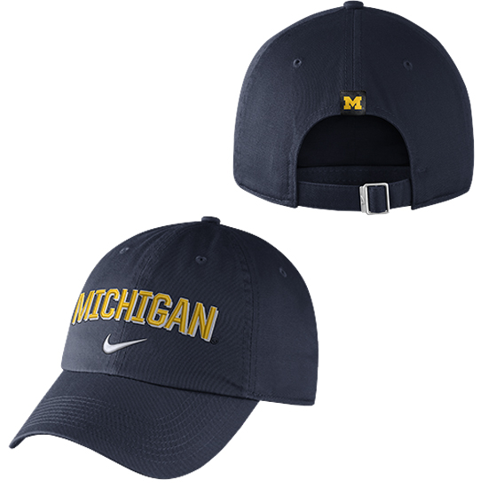 Nike University of Michigan Navy Heritage86 Michigan Unstructured Hat