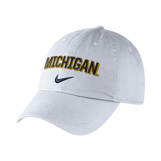 Nike University of Michigan White Heritage86 Michigan Unstructured Hat 1c8471e44d67