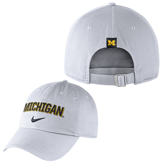 564f6716798069 Nike University of Michigan White Heritage86 Michigan Unstructured Hat