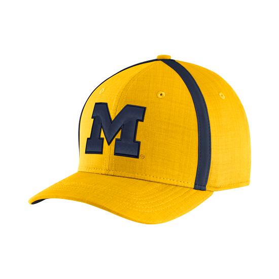 8f53e6b49fc Jordan University of Michigan Football Yellow Aerobill Sideline Coaches Dri-FIT  Hat