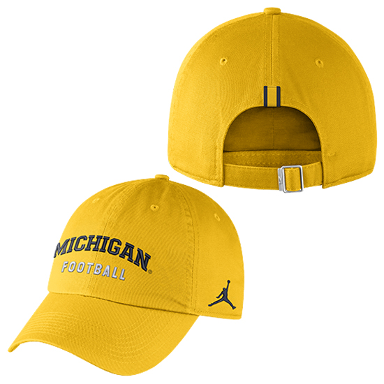 lowest price aa06c 9089f Jordan University of Michigan Football Yellow Heritage86 Unstructured Hat
