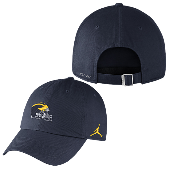 a10cc368de9507 Jordan University of Michigan Football Navy Heritage86 Helmet Unstructured  Hat