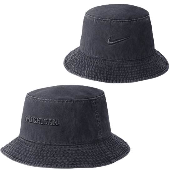 Nike University of Michigan Navy Pigment Washed Bucket Hat. Product  Thumbnail Product Thumbnail Product Thumbnail 5a335a6cbbc