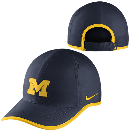 5a8bc525cb7 Nike University of Michigan Navy Dri-FIT Featherlight Unstructured Hat.  Product Thumbnail Product Thumbnail Product Thumbnail