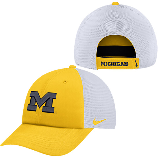 Nike University of Michigan Yellow Heritage86 Dri-FIT Meshback Unstructured Hat