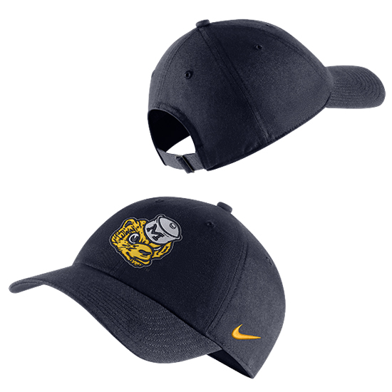 Nike University of Michigan Navy College Vault Wolverine Heritage86 Dri-FIT Unstructured Hat