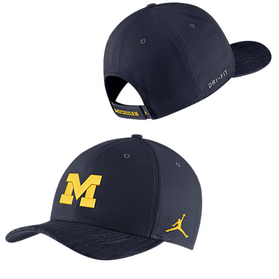 a5f2b0f9 ... coupon for jordan university of michigan football navy sideline dri fit  structured hat b309a 98d3d