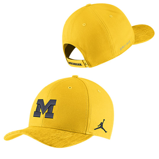 size 40 d25ed bdeab ... amazon jordan university of michigan football maize sideline dri fit  structured hat 6ee37 747d6