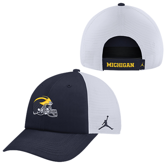 Jordan University of Michigan Football Navy Heritage86 Dri-FIT Meshback Unstructured Hat