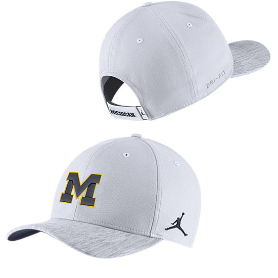 23af5a16 ... denmark jordan university of michigan football white sideline dri fit  structured hat c4f2c 89f61