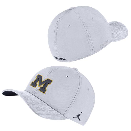 new product b8f6b 51189 ... discount jordan university of michigan football white sideline dri fit  structured swoosh flex fit hat ca00e