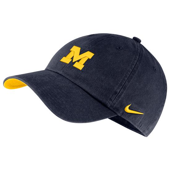 Nike University of Michigan Washed Navy Heritage86 Small Block   M ... f0aad6e19c25