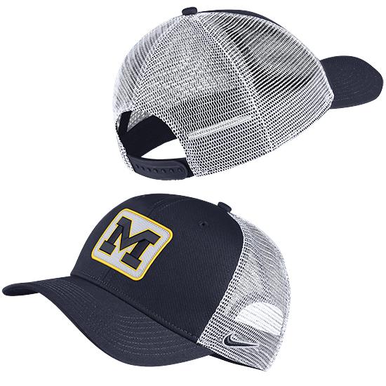 e66ac165b4b Nike University of Michigan Navy Classic99 Trucker Patch Meshback Snapback  Hat. Product Thumbnail Product Thumbnail Product Thumbnail