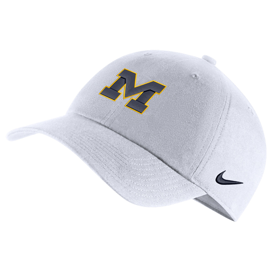 Nike University of Michigan White Heritage86 Block   M   Unstructured Hat 737c189146f6