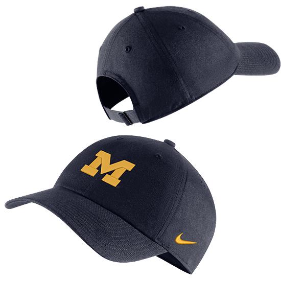 Nike University of Michigan Navy Heritage86 Block ''M'' Unstructured Hat