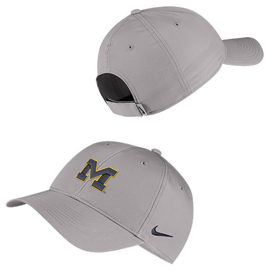 Nike University of Michigan Gray Legacy91 Dri-FIT Tech Hat