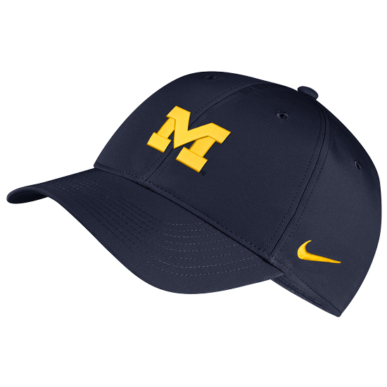0d633e40 Nike University of Michigan Navy Legacy91 Dri-FIT Tech Hat