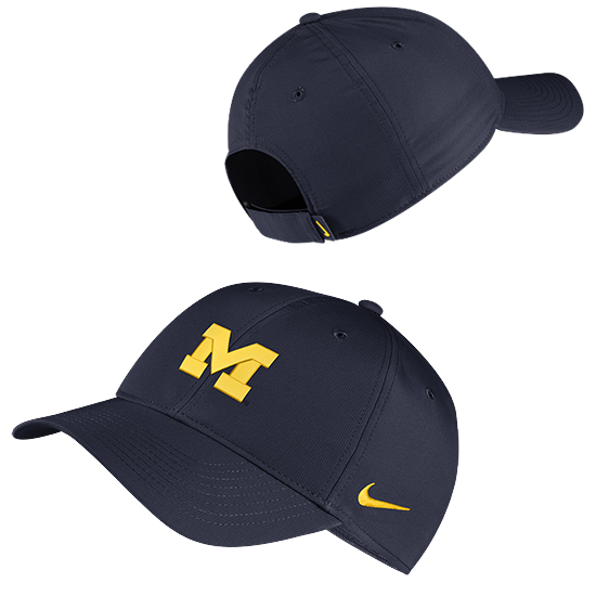 Nike University of Michigan Navy Legacy91 Dri-FIT Tech Hat