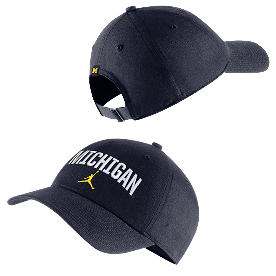 Jordan University of Michigan Navy Heritage86 Arched ''Michigan'' Unstructured Hat