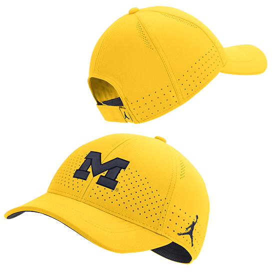 Jordan University of Michigan Football Maize Legacy91 Sideline Slouch Hat