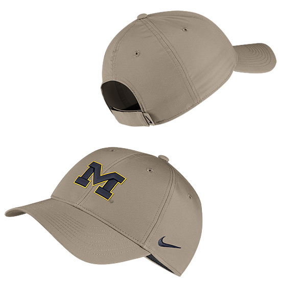 Nike University of Michigan Khaki Legacy91 Dri-FIT Tech Hat