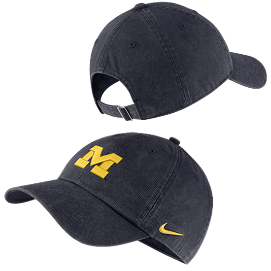 Nike University of Michigan Navy Corduroy Heritage86 Unstructured Hat