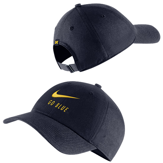 Nike University of Michigan Navy Heritage86  ''Go Blue'' Swoosh Slouch Hat