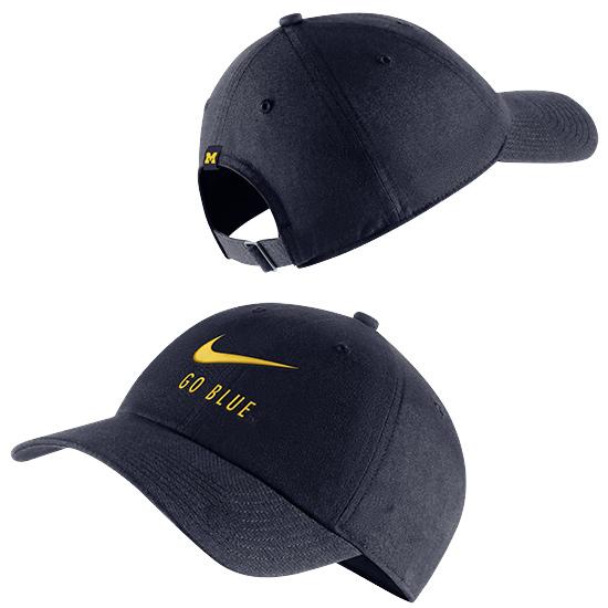 Nike University of Michigan Navy Heritage86  ''Go Blue'' Swoosh Slouch Hat