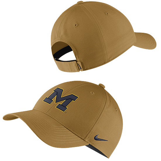 Nike University of Michigan Wheat Legacy91 Dri-FIT Tech Hat