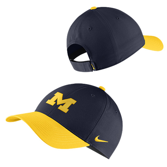 Nike University of Michigan Navy/Yellow Legacy91 Dri-FIT Tech Hat