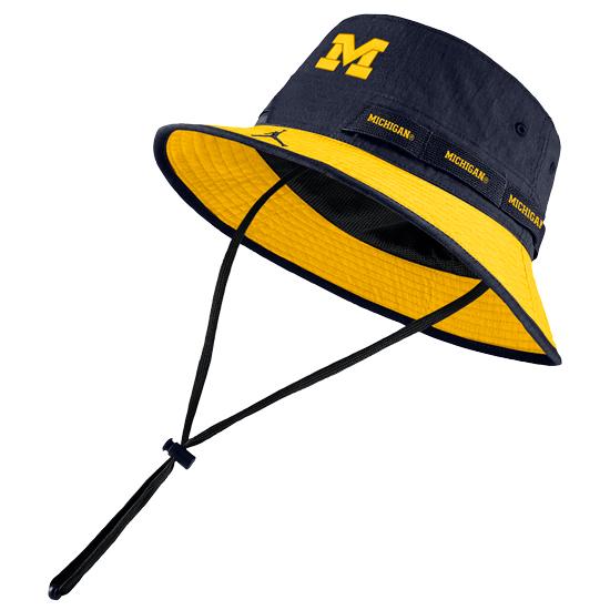 Jordan University of Michigan Football Navy/Yellow Safari Bucket Hat