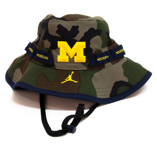 Jordan University of Michigan Football Camo Safari Bucket Hat