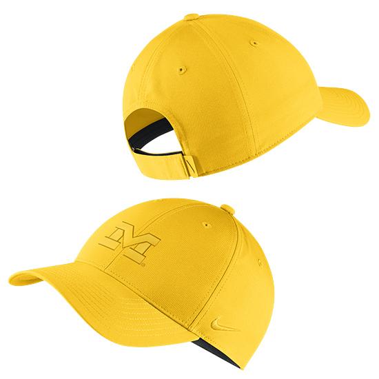 Nike University of Michigan Maize Two-Tone Legacy91 Dri-FIT Tech Hat