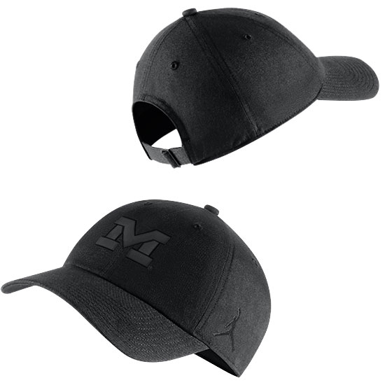 Jordan University of Michigan Football Black Tonal Heritage86 Slouch Hat