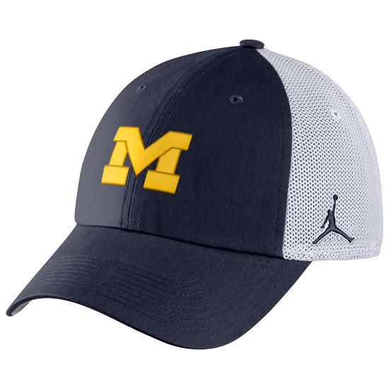 Jordan University of Michigan Football Navy Meshback Heritage86 Hat
