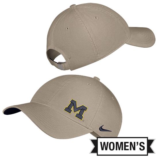 Nike University of Michigan Women's Khaki Heritage86 Slouch Hat