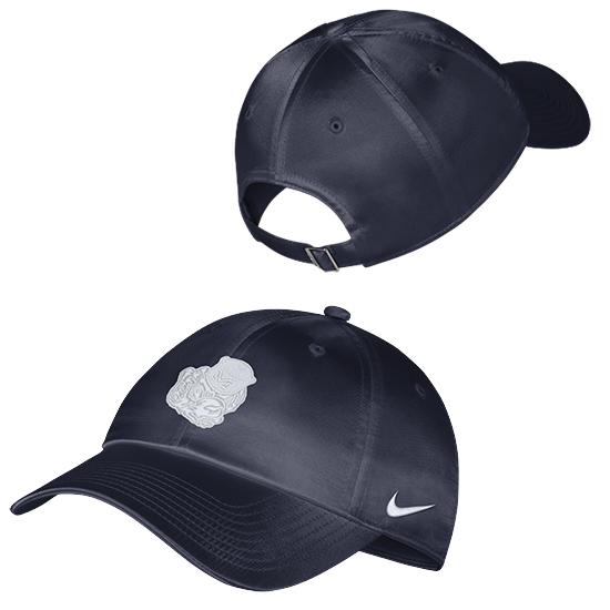 Nike University of Michigan Women's Navy Satin College Vault Wolverine Heritage86 Hat