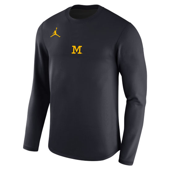 8ee718a9051 Jordan University of Michigan Football 2017 Navy Head Coaches Modern Crew
