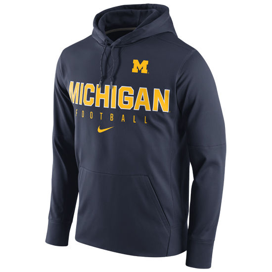 Nike University of Michigan Football Navy Circuit Performance Hood