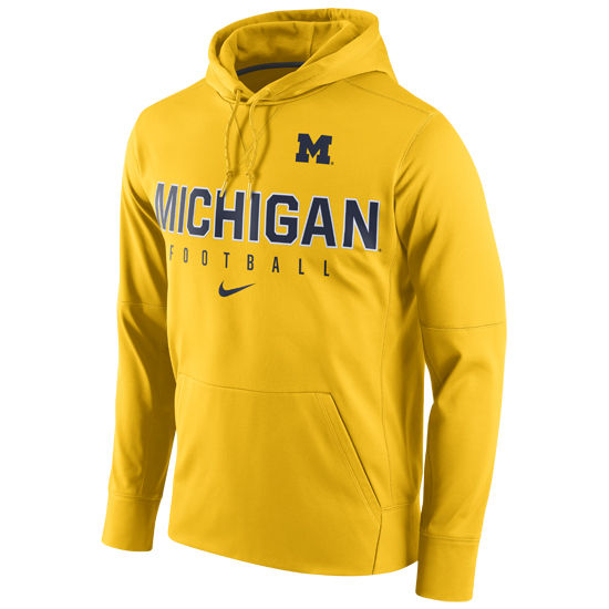 Nike University of Michigan Football Yellow Circuit Performance Hood